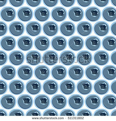 blueberry fruit vector pattern.swatch pattern