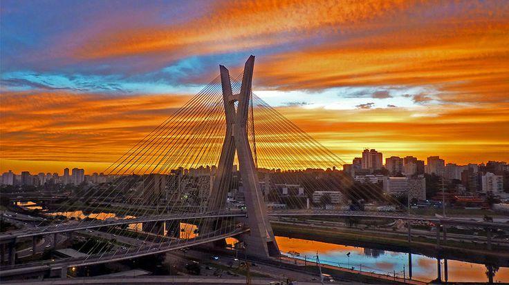 Sao Paulo, BrazilBelo Brazil, Sao Paulo Brazil, Buckets Lists, Travel Channel, Brazil, Bello Atardecer, Places, Saopaulo Brazil, Ponte Estaiada