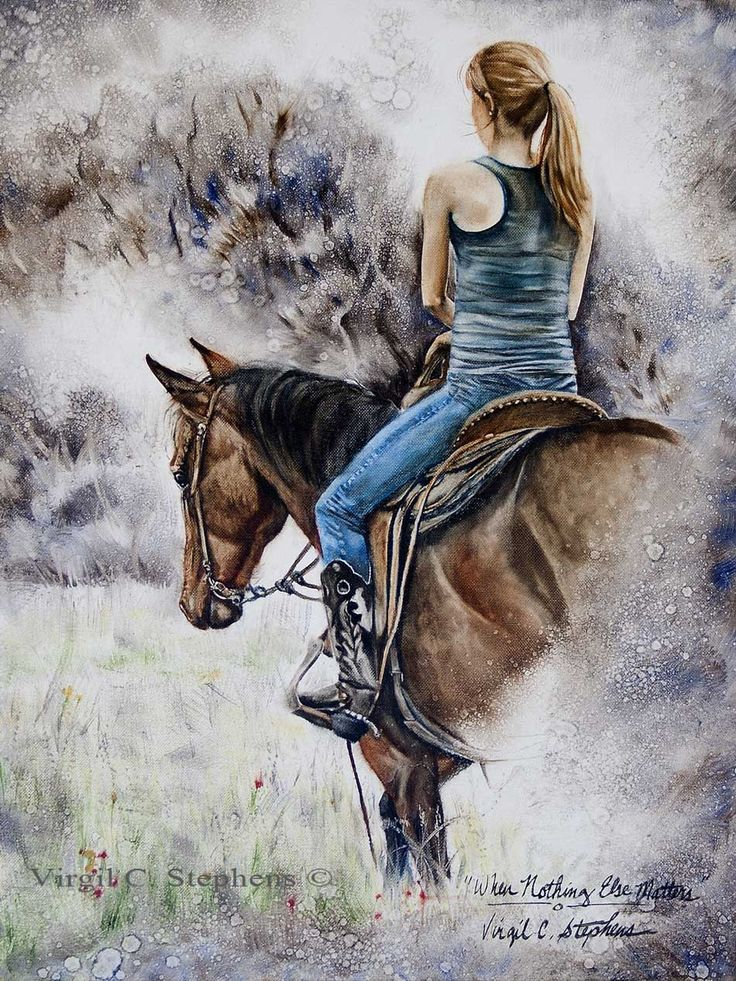Best Horse And Rider Oil Painting