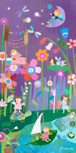 Nighttime Fairies Canvas Wall Art