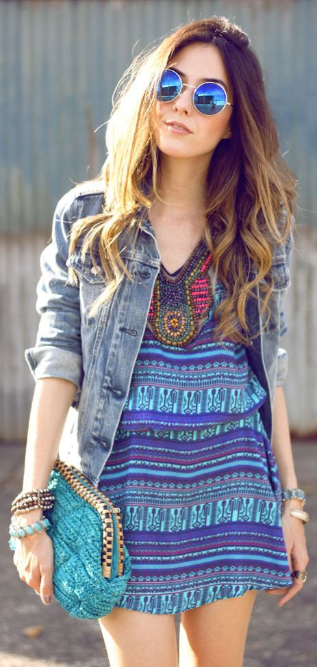 Printed Shift Dress Outfit Idea by Fashion Coolture