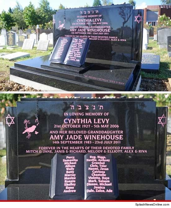 Amy's memorial headstone. Must visit someday.