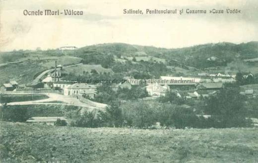 BU-F-01073-5-03493 Ocnele Mari din judeţul Vâlcea. Salinele, penitenciarul şi cazarma Cuza Vodă, 1907 (niv.Document)