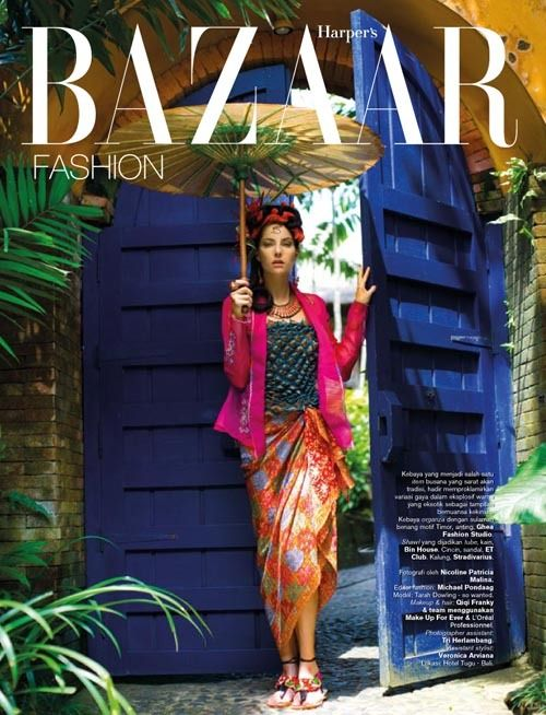 Revival of Kebaya  Harper's Bazaar Indonesia August 2011  Photography: Nicoline Patricia Malina  Stylist: Michael Pondaag  Hair & Make Up: Qiqi Franky & Team  Assistant Stylist: Veronica Arviana  Assistant Lighting: Tri Herlambang  Model: Tarah @So Wanted Bali
