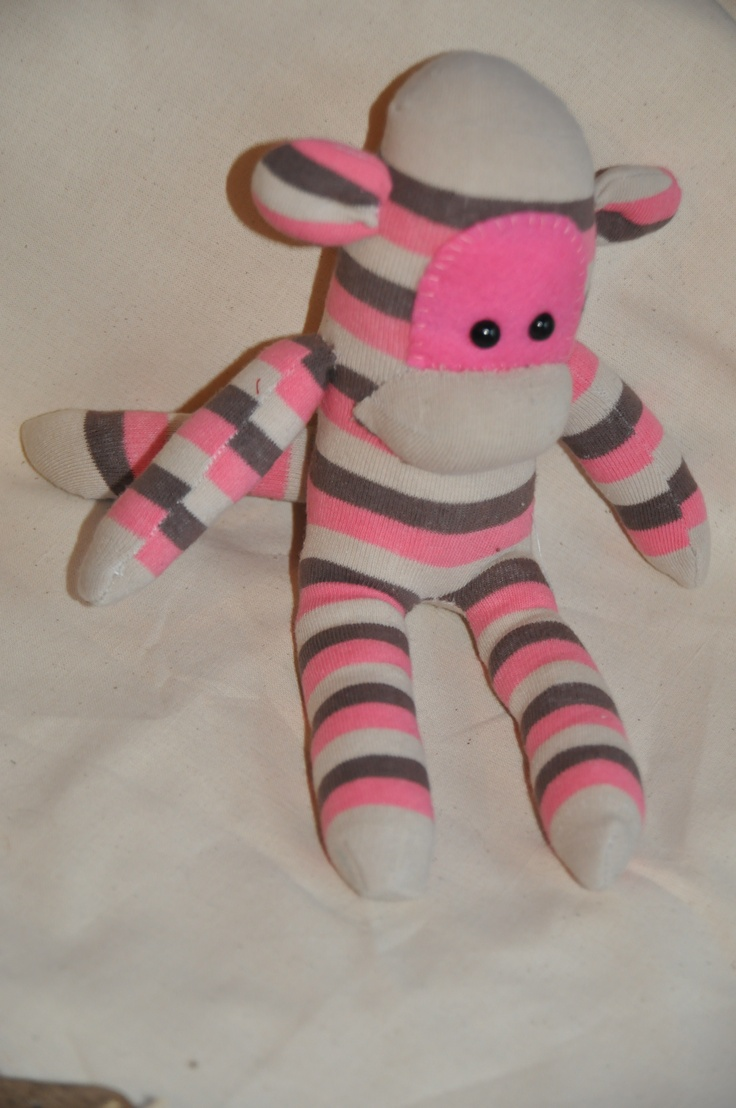 Little cuddle toy made out of socks