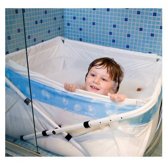 Ba era maxi para plato de ducha burbuja azul de bibaba o - Banera ninos para ducha ...