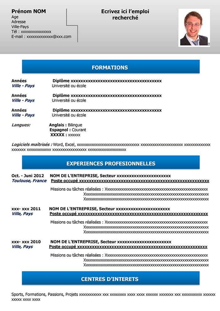 Exemple De Cv Simple Gratuit A Telecharger Cv Simple Exemple De Cv Simple Exemple Cv