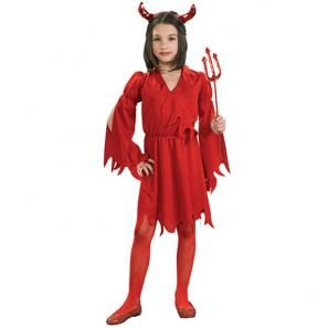 Duivel meisje rood Halloween kostuum kind