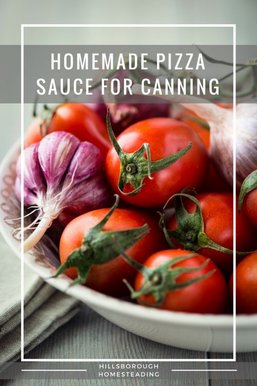 Make homemade pizza sauce for canning! Fresh, delicious, and easy to can.