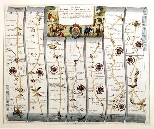 Antique Map Oxford to Chichester