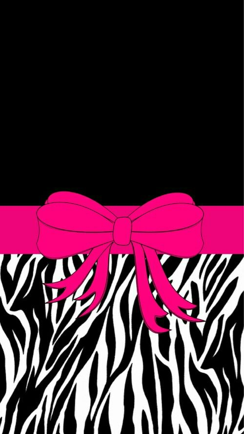 44 best bow wallpapers images on pinterest backgrounds - Pink zebra wallpaper for iphone ...