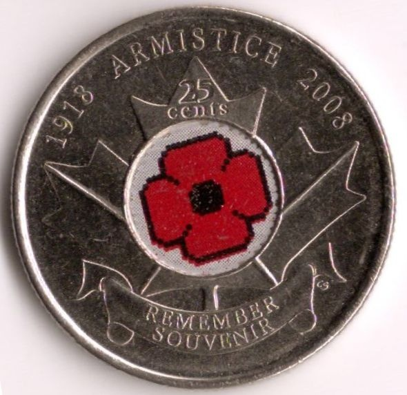 Canadian Coin Collection: 2008 - Remembrance Day 90th Anniversary