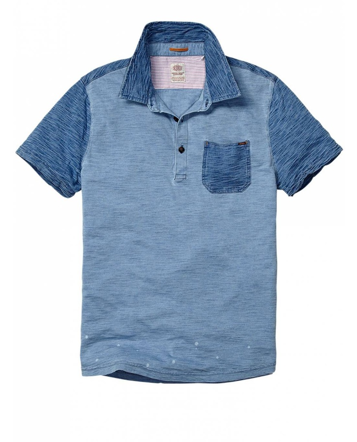 Indigo mix & match polo - Polo's - Official Scotch & Soda Online Fashion & Apparel Shops