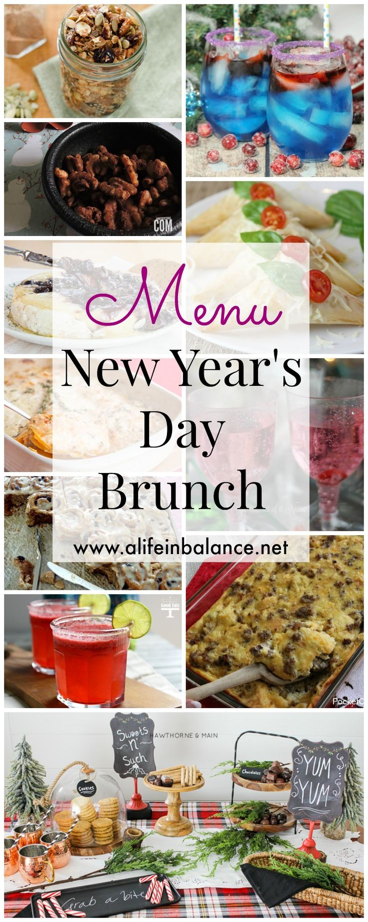 Menu: New Year's Day Brunch -- New Year's Day is all about food, just like Thanksgiving. Make these easy recipes ahead of time, and wake up to a relaxing day.