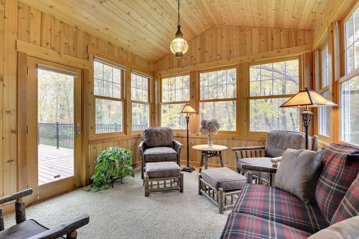 Rustic Porch with Screened porch