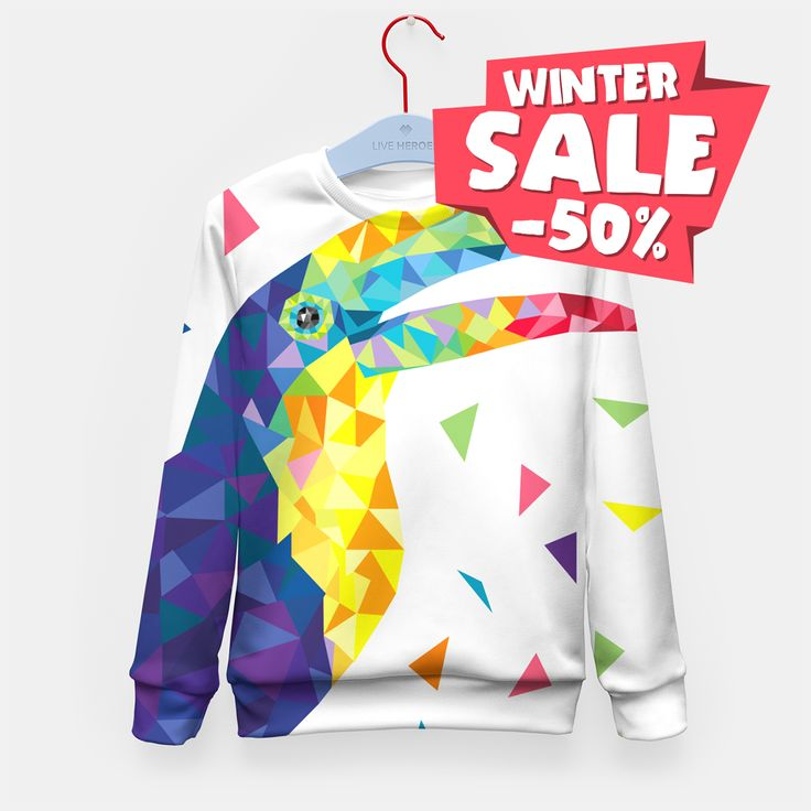 Geometric Toucan full of colorful joy! Very last chance for 50% OFF for everything! Check this out ➡️ https://liveheroes.com/en