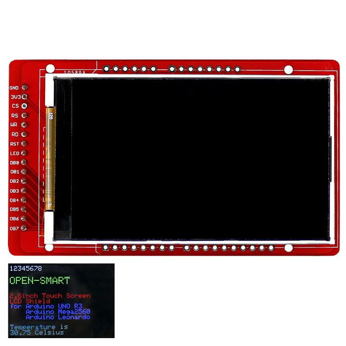 """3.0 inch TFT LCD Breakout Board for Arduino / Mega2560 / Leonardo. Find the cool gadgets at a incredibly low price with worldwide free shipping here. OPEN-SMART 3.0"""" 240 * 400 TFT LCD Shield Breakout Module for Arduino, LCD, LED Display Module, . Tags: #Electrical #Tools #Arduino #SCM #Supplies #Displays"""