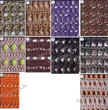 Zece modele de croșetat ajurata, fotografii