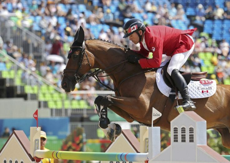 Eric Lamaze of Canada riding Fine Lady 5 won the bronze medal at the Rio…