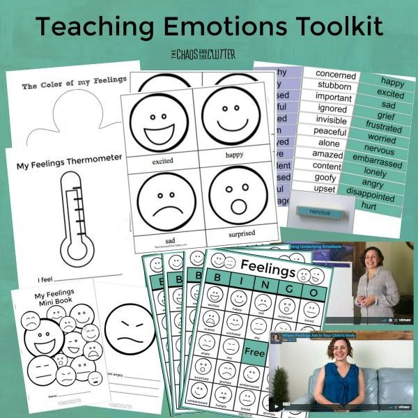 Teaching Emotions Toolkit!  Does your child struggle to understand their emotions? For some kids, learning about emotions can be as difficult as learning a foreign language. The Teaching Emotions Toolkit contains all the resources you need to give kids an emotion vocabulary, help them to better understand what they are feeling and what to do with those feelings. (AD)
