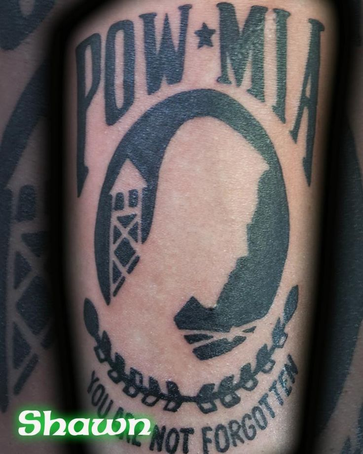 17 best images about tattoos by shawn on pinterest shops for Pow mia tattoo