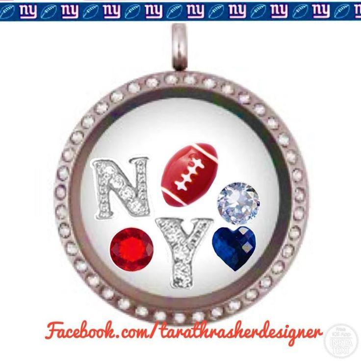 Origami Owl New York Giants NY Football  NFL Facebook.com/tarathrasherdesigner