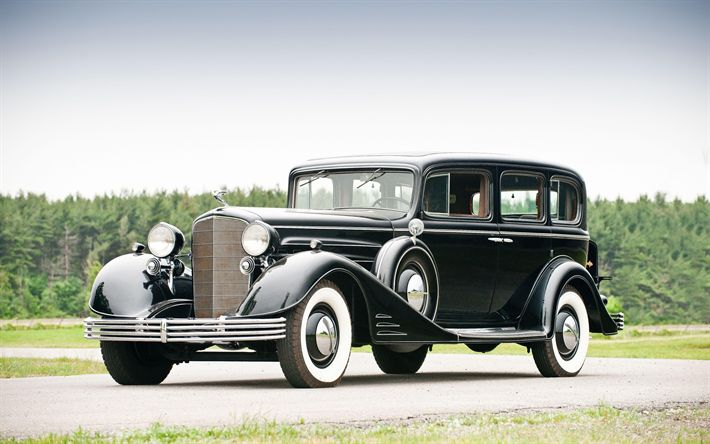 Download wallpapers Cadillac Series 60, 1933, retro car, classic cars, 7-Passenger Limousine, Cadillac