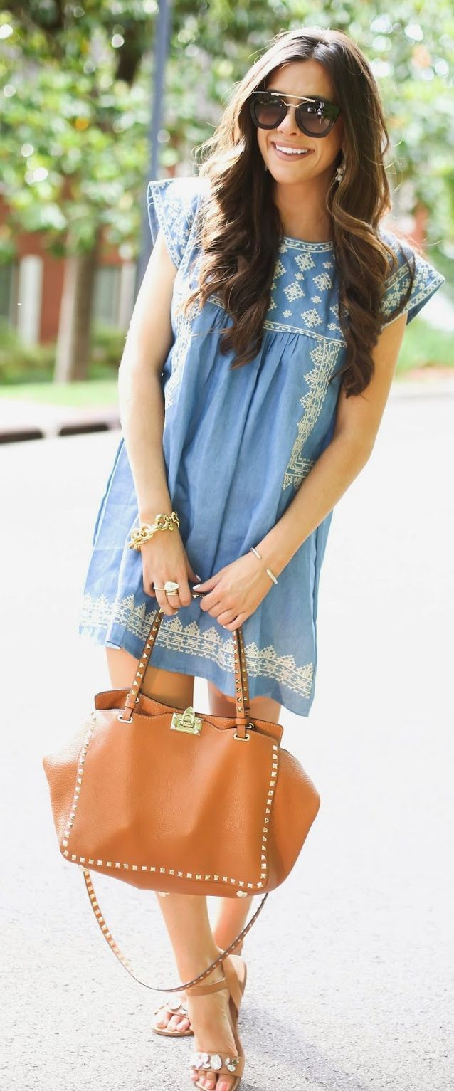 Baby Doll Denim Dress Beach Style - The Sweetest T...