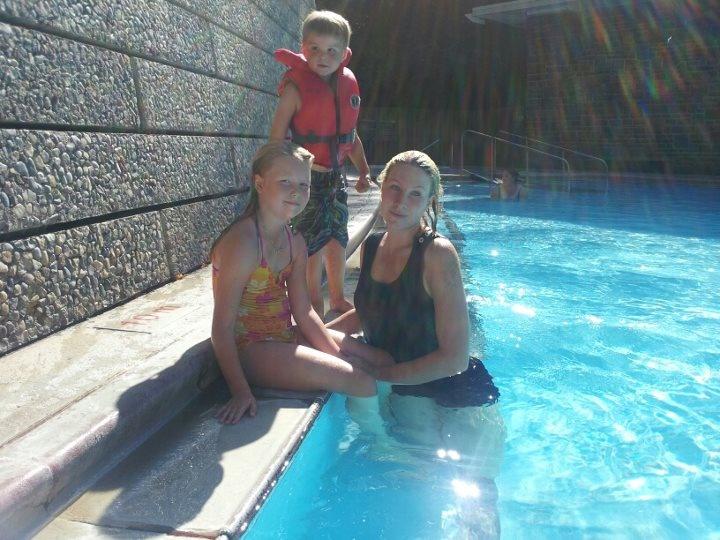 were enjoying the hot springs hot pools