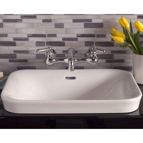 Strom Plumbing Porcelain Drop In Bathroom Sink No Faucet Drillings
