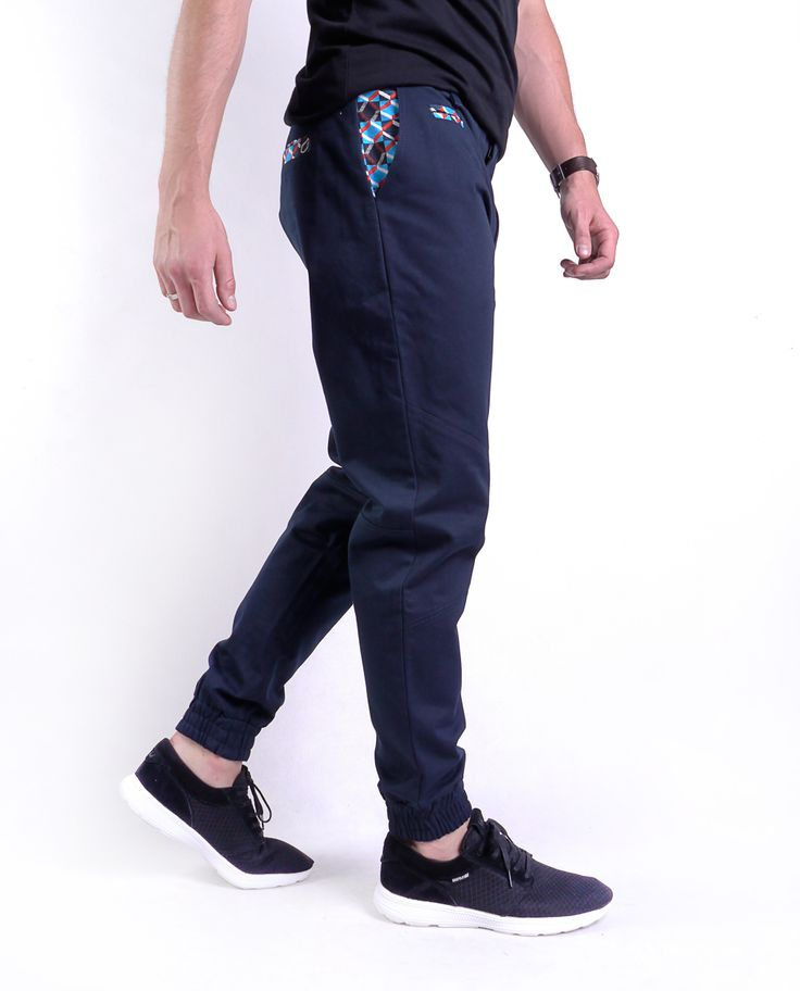 EthniCity Joggers - dark blue trausers with etno elements. Fashionable and original.