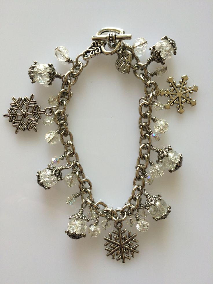 Charm Bracelet - Charmed by Snow - made with love xx by CharmingDeva on Etsy