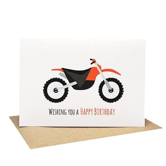 Birthday Card Boy Motorbike Card Card For Boys Happy Etsy Happy Birthday Cards Birthday Cards Birthday Cards Diy