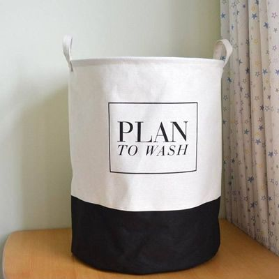 Newest canvas fabric laundry storage basket with handles plan to wash design | worth buying on AliExpress