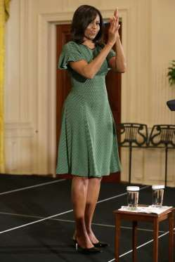 <p><strong>When: </strong>April 2016</p><p><strong>Where:</strong> Persian New Year celebration of Nowruz at the White House</p><p><strong>Wearing:</strong> A green polka-dot dress</p>
