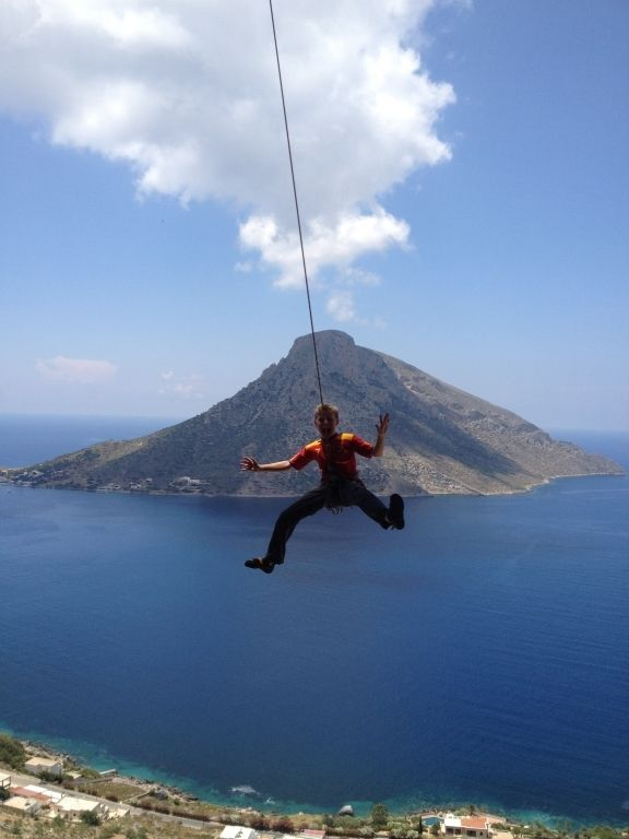 Rock climbing is extremely popular on Kalymnos!