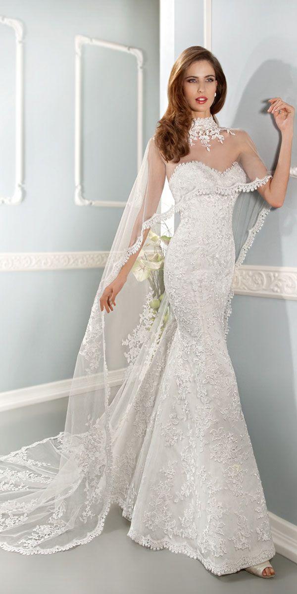 Fabulous Lace Sweetheart Neckline Natural Waistline Sheath Wedding Dress