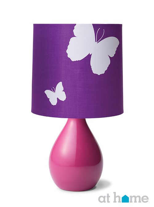 Purple and pink, butterfly-themed #lamp | Lighting Décor in 2019 ...