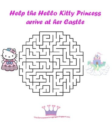Maze Hello kitty and Kitty on