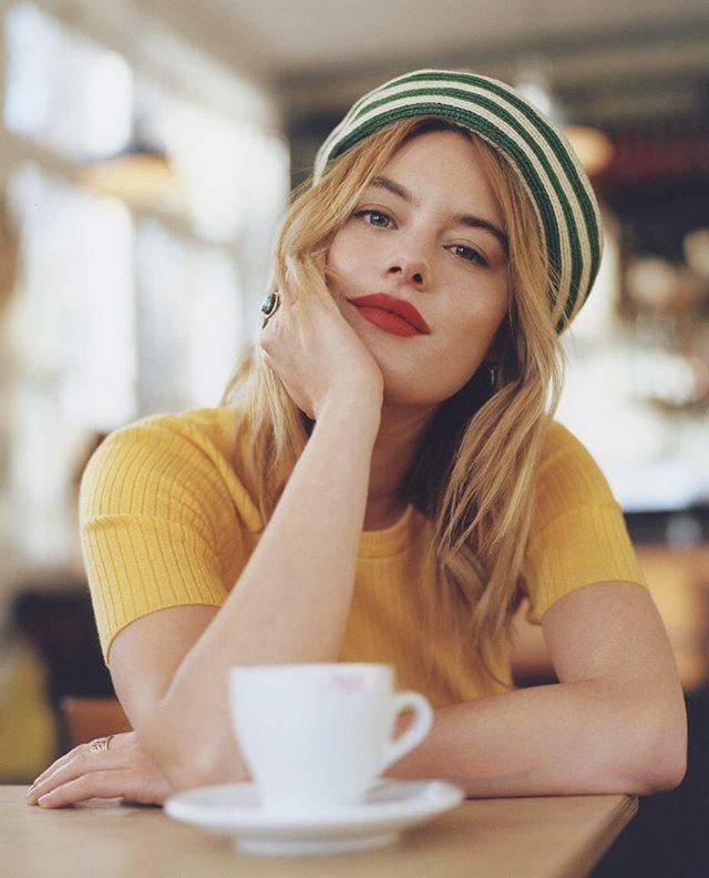 Beautiful Camille Rowe (aka @fingermonkey) in this months British Vogue, by Laura Coulson, styled by Nura Khan, hair by Karin Bigler & #celiaburtonmakeup #britishvogue #camillerowe
