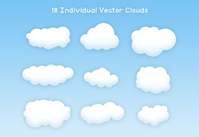Medialoot - Free Vector Clouds