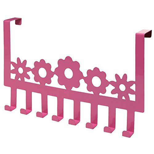 "Add a fun splash of pink to your bedroom/bathroom with this adorable, daisy-themed coat hanger. Simply place the 8-hook hanger over any door (up to 1.5"" thick) and you can easily hang coats, jackets, towels, robes, hats, and anything else that may be cluttering a room. Whether you love pink, your little one loves pink, or the whole family loves pink, this cute, kid-friendly coat hanger makes it fun and easy to keep the house clean and organized.**Official MyGift® product includes multip..."