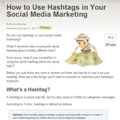 How to Use Hashtags in Your Social Media Marketing. How often are you using hashtags? - Andrea  http://www.socialmediaexaminer.com/hashtags/