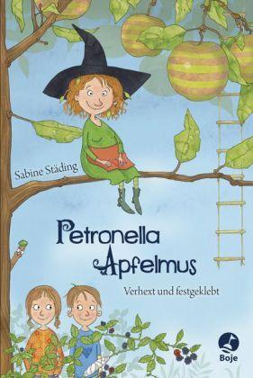 Hier finden kleine Leser alles, was ihr Herz hüpfen lässt: eine liebenswerte Hexe mit lauter lustigen Ideen, zwei Geschwister – mutig und unerschrocken, einen herrlich skurrilen Gartenkosmos und einen Bösewicht, dem alle Einhalt gebieten müssen. Vereint in einer Geschichte, die anfangs angenehm gruselig ist, zunehmend spannender wird und mit Humor und Charme erzählt wird. Sabine Städing / Sabine Büchner, Petronella Apfelmus. Verhext und festgeklebt. Boje Verlag. Ab 9 Jahren (oder zum…