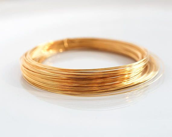 2965 Gold plated wire 26 gauge Jewelry wire 0.4mm Gold wire