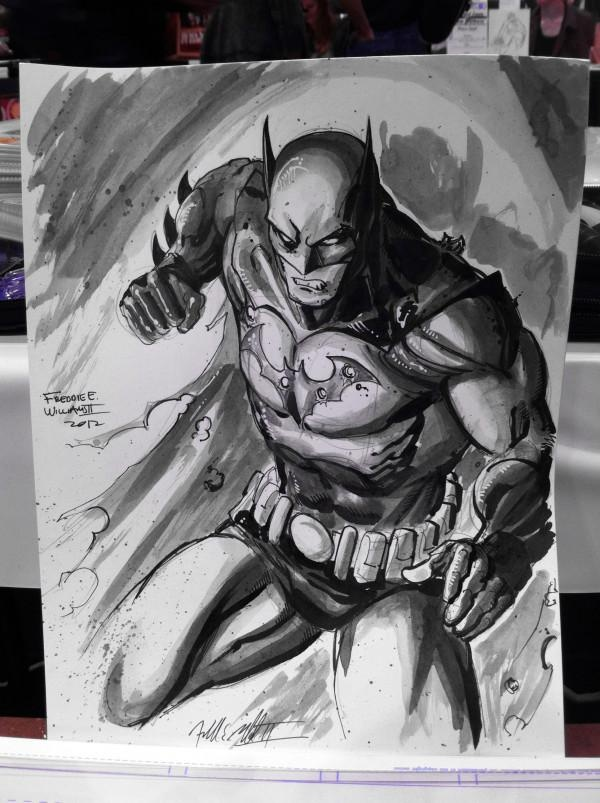 Freddie E. Williams II posted his sketch of Batman