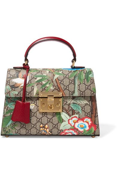 Gucci - Padlock Small Coated-canvas And Leather Tote - Green - one size