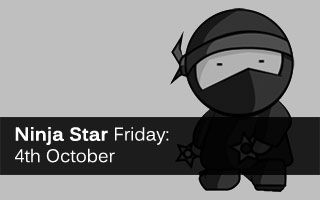 It's Ninja Star Friday! Stealthily gleaned from the Web, here's our round-up of the week's important content marketing news, ricocheting its way across your screens.