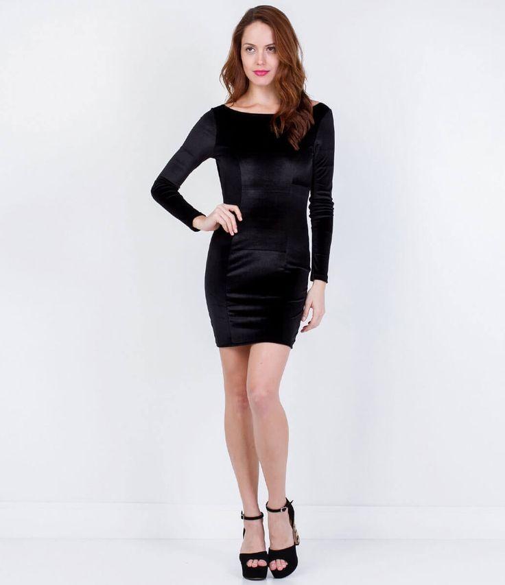 Vestido Feminino de Veludo - Lojas Renner