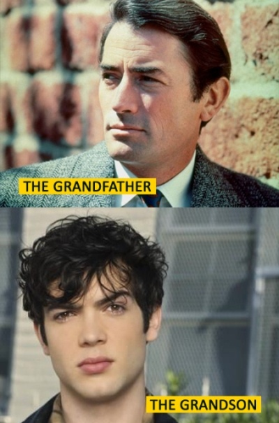 Ethan Peck is the grandson of Gregory Peck. those are some amazing family genes <3